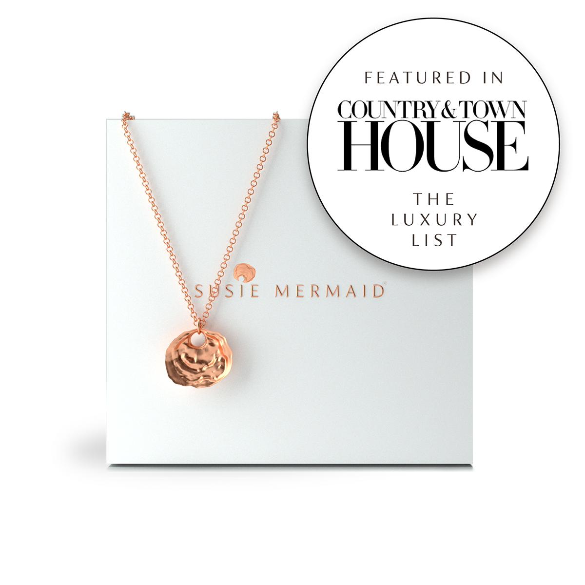 Mother of Peal Solid 9ct Rose Gold Ltd. Edition Pendant